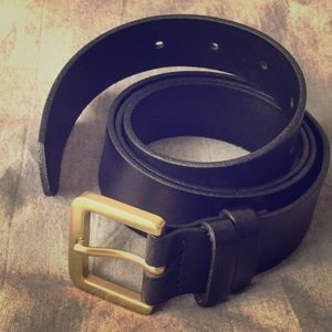 🖤J. Crew Black Genuine Italian Leather Belt🖤